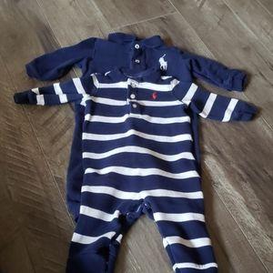 Two Baby Boy Ralph Lauren long sleeve bodysuits